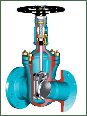 Задвижки клиновые двухдисковые чугунные с выдвижным шпинделем под электропривод(ЧКЗП) PN 10