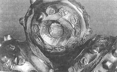 Сработка внутренних венцов шарошек (кернение долота)