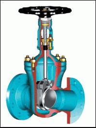 Задвижки параллельные двухдисковые чугунные с выдвижным шпинделем под электропривод(ЧПЗП) PN 10